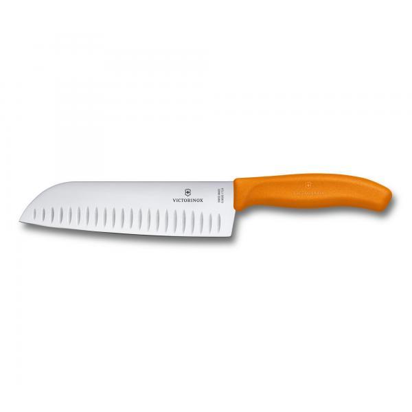 Victorinox SwissClassic Santoku nôž 17 cm - oranžový 4