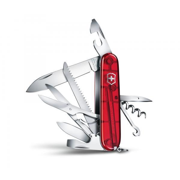 Victorinox  Huntsman - transparentný červený 4