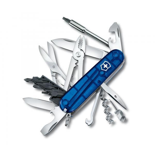 Victorinox CyberTool 34 - transparentný modrý 4