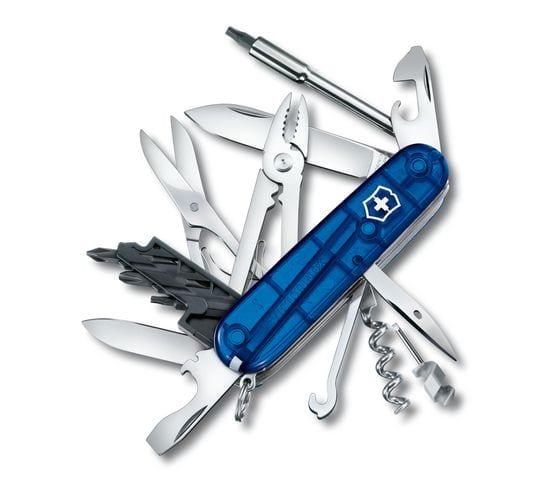 Victorinox CyberTool 34 - transparentný modrý 3