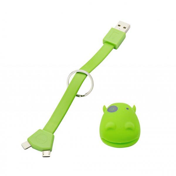 USB nabíjací redukcia - kľúčenka na Micro USB a Lightning IOS (Apple) 6