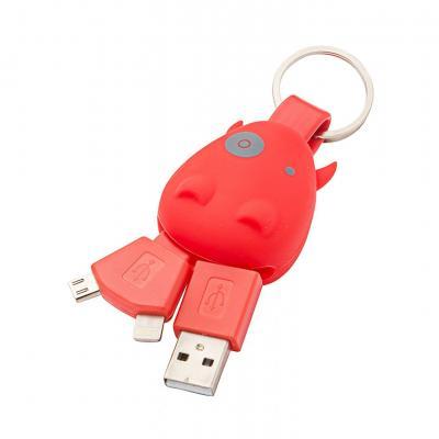 USB nabíjací redukcia - kľúčenka na Micro USB a Lightning IOS (Apple) 16