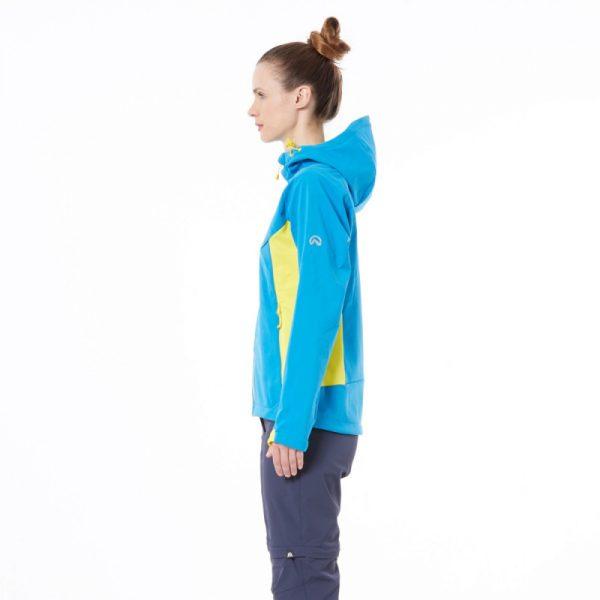 Dámska bunda softshellová outdoorový štýl 5