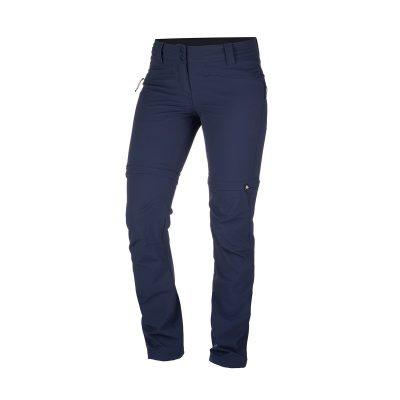 NO-4593OR dámske nohavice 2v1 tkané-strečové pre outdoorové aktivity 1L DRALA 17