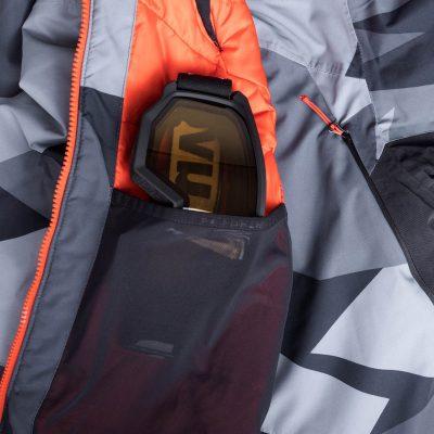 BU-3800SNW pánska bunda zateplená free-style plná výbavou print ELKLIPS 33