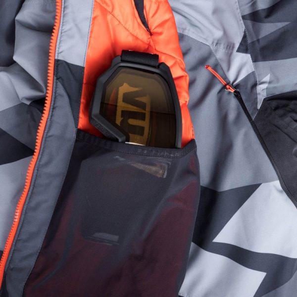 BU-3800SNW pánska bunda zateplená free-style plná výbavou print ELKLIPS 13
