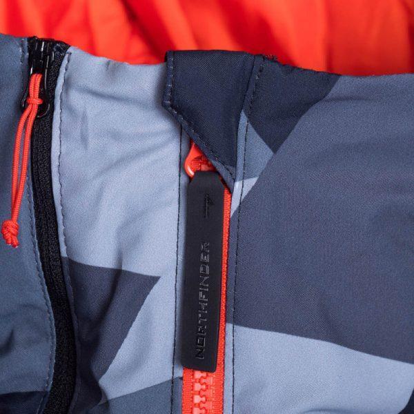 BU-3800SNW pánska bunda zateplená free-style plná výbavou print ELKLIPS 14