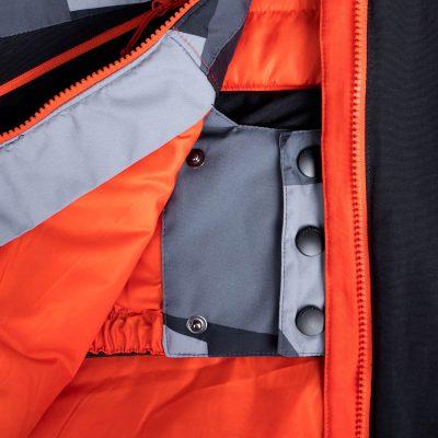 BU-3800SNW pánska bunda zateplená free-style plná výbavou print ELKLIPS 36