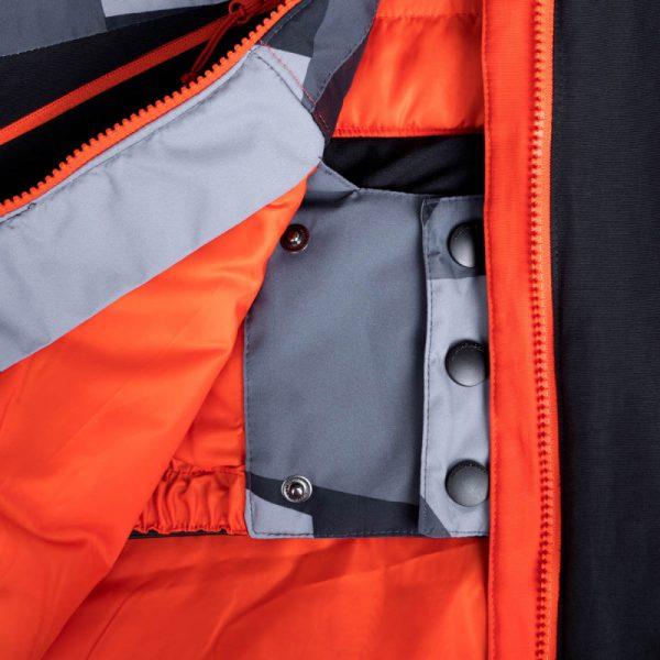 BU-3800SNW pánska bunda zateplená free-style plná výbavou print ELKLIPS 16