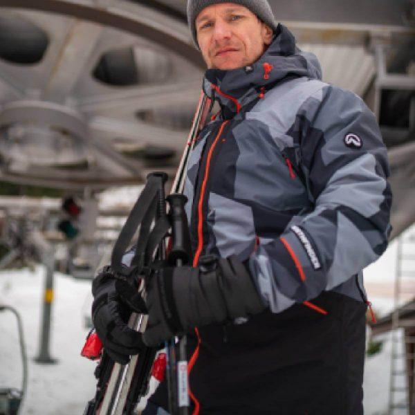 BU-3800SNW pánska bunda zateplená free-style plná výbavou print ELKLIPS 17