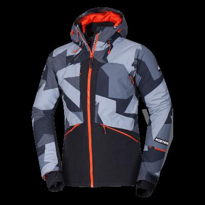 BU-3800SNW pánska bunda zateplená free-style plná výbavou print ELKLIPS 42