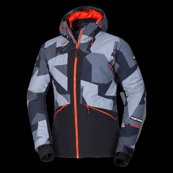 BU-3800SNW pánska bunda zateplená free-style plná výbavou print ELKLIPS 22