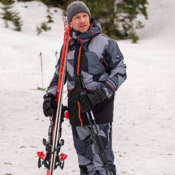 BU-3800SNW pánska bunda zateplená free-style plná výbavou print ELKLIPS 4