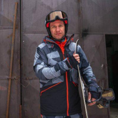 BU-3800SNW pánska bunda zateplená free-style plná výbavou print ELKLIPS 25