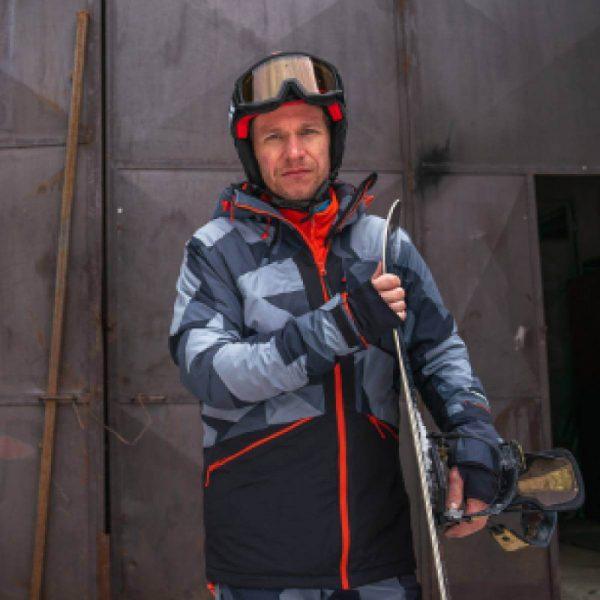 BU-3800SNW pánska bunda zateplená free-style plná výbavou print ELKLIPS 5