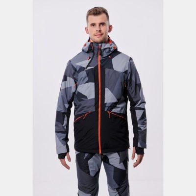 BU-3800SNW pánska bunda zateplená free-style plná výbavou print ELKLIPS 40