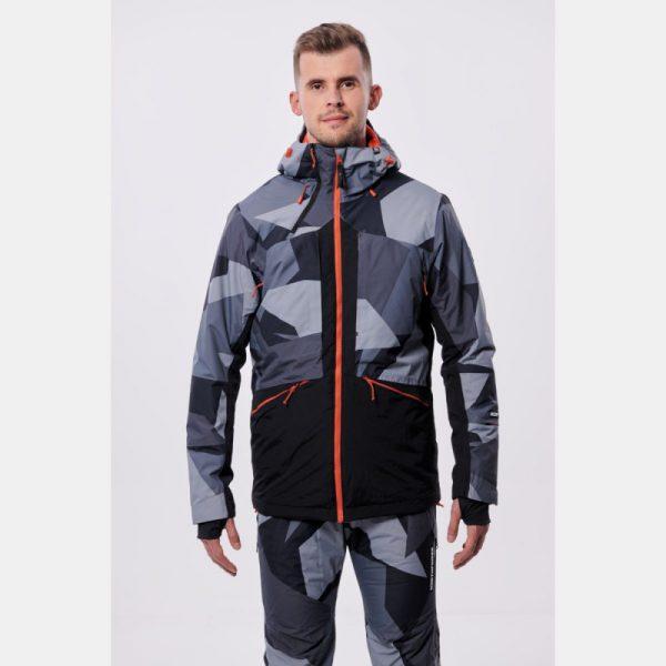 BU-3800SNW pánska bunda zateplená free-style plná výbavou print ELKLIPS 20