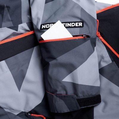 BU-3800SNW pánska bunda zateplená free-style plná výbavou print ELKLIPS 30