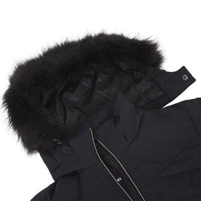 BU-4676SNW dámska bunda alpin zateplená séria dlhý štýl a kožušina 2L IRNES 23