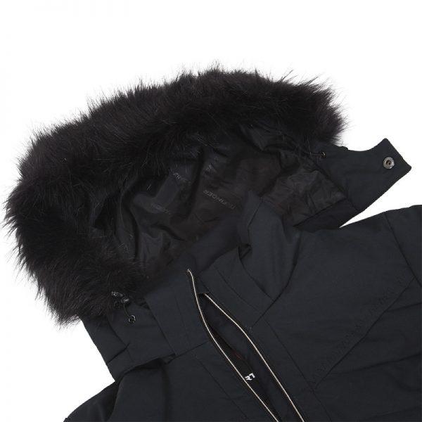 BU-4676SNW dámska bunda alpin zateplená séria dlhý štýl a kožušina 2L IRNES 4