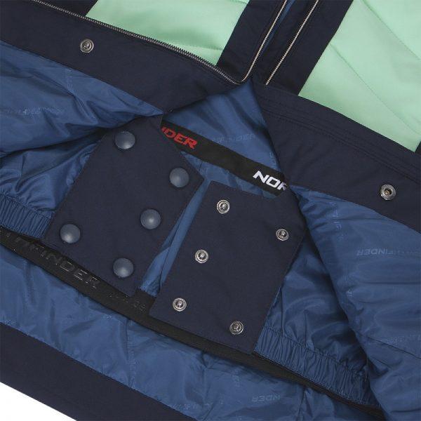 BU-4676SNW dámska bunda alpin zateplená séria dlhý štýl a kožušina 2L IRNES 13