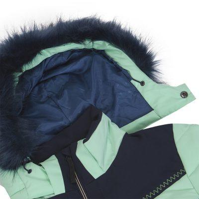 BU-4676SNW dámska bunda alpin zateplená séria dlhý štýl a kožušina 2L IRNES 33