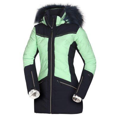 BU-4676SNW dámska bunda alpin zateplená séria dlhý štýl a kožušina 2L IRNES 34