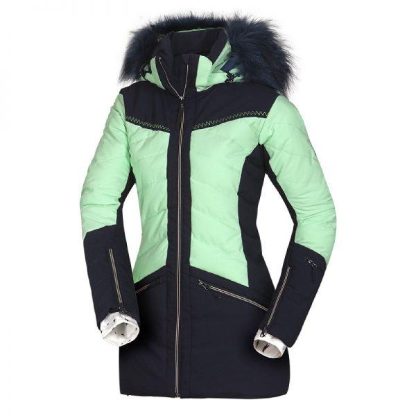 BU-4676SNW dámska bunda alpin zateplená séria dlhý štýl a kožušina 2L IRNES 15