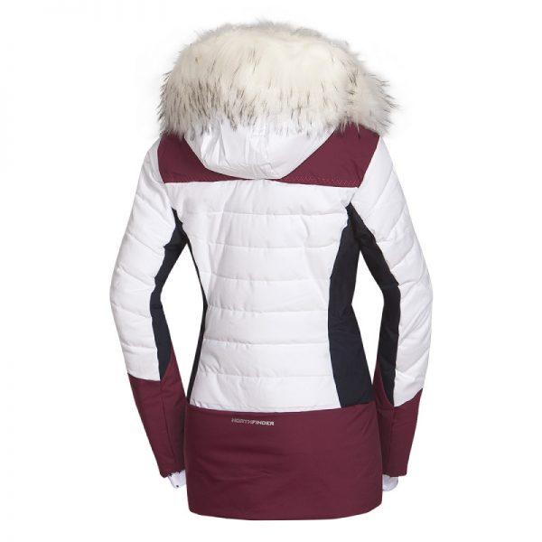 BU-4676SNW dámska bunda alpin zateplená séria dlhý štýl a kožušina 2L IRNES 16