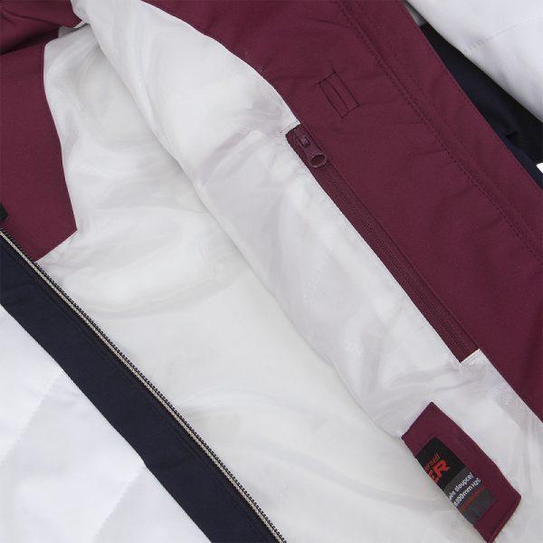 BU-4676SNW dámska bunda alpin zateplená séria dlhý štýl a kožušina 2L IRNES 17
