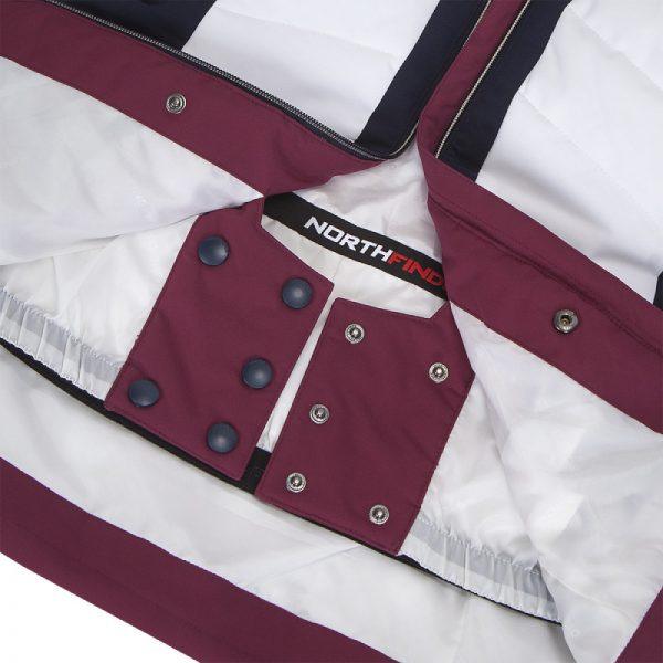 BU-4676SNW dámska bunda alpin zateplená séria dlhý štýl a kožušina 2L IRNES 19