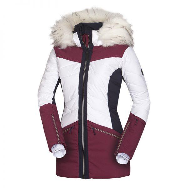 BU-4676SNW dámska bunda alpin zateplená séria dlhý štýl a kožušina 2L IRNES 20