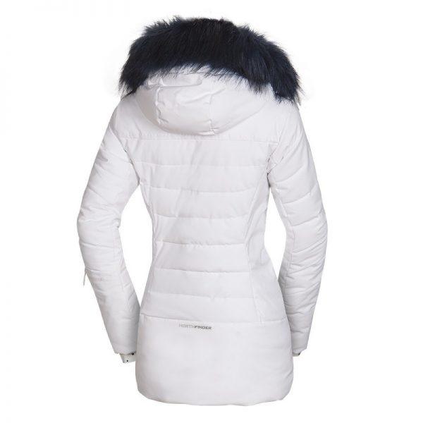 BU-4676SNW dámska bunda alpin zateplená séria dlhý štýl a kožušina 2L IRNES 21