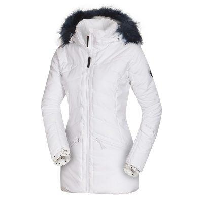 BU-4676SNW dámska bunda alpin zateplená séria dlhý štýl a kožušina 2L IRNES 41