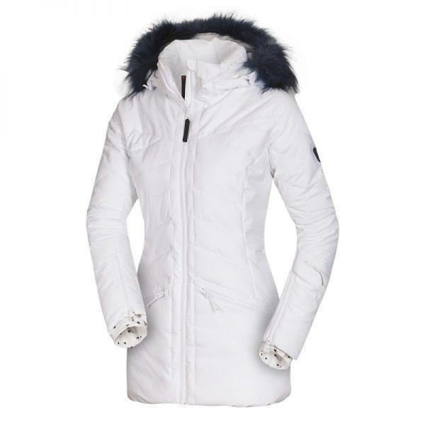 BU-4676SNW dámska bunda alpin zateplená séria dlhý štýl a kožušina 2L IRNES 22