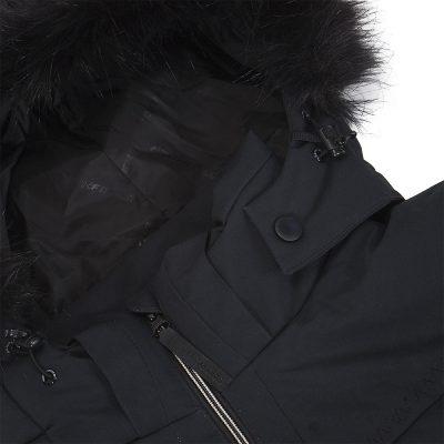 BU-4676SNW dámska bunda alpin zateplená séria dlhý štýl a kožušina 2L IRNES 27
