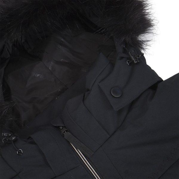 BU-4676SNW dámska bunda alpin zateplená séria dlhý štýl a kožušina 2L IRNES 8
