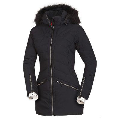 BU-4676SNW dámska bunda alpin zateplená séria dlhý štýl a kožušina 2L IRNES 28