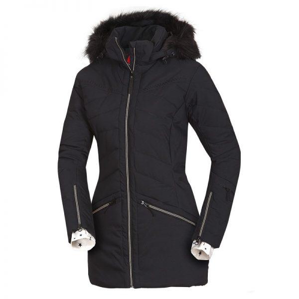 BU-4676SNW dámska bunda alpin zateplená séria dlhý štýl a kožušina 2L IRNES 9