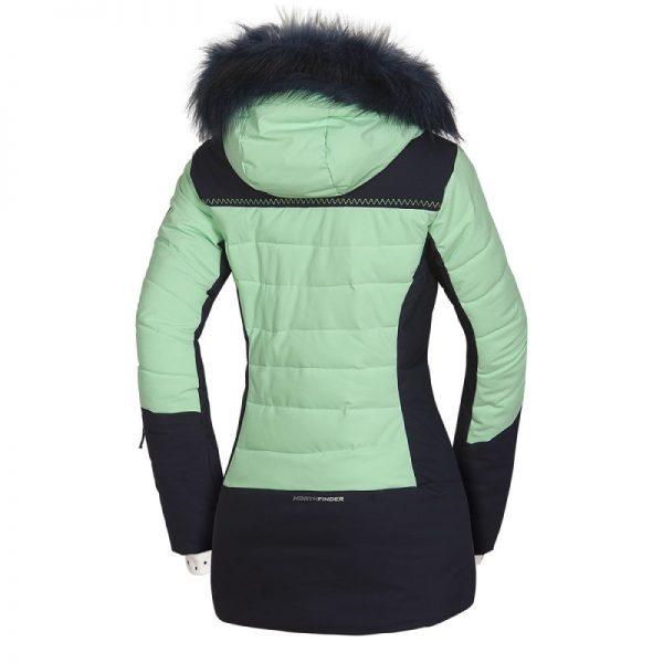BU-4676SNW dámska bunda alpin zateplená séria dlhý štýl a kožušina 2L IRNES 10