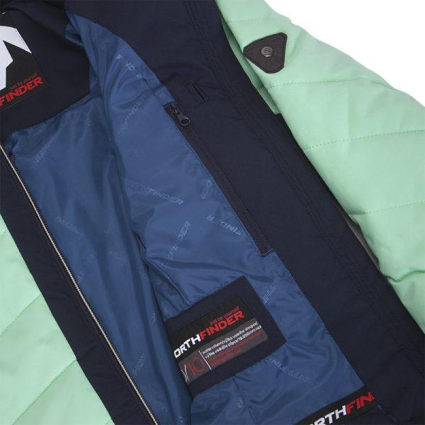 BU-4676SNW dámska bunda alpin zateplená séria dlhý štýl a kožušina 2L IRNES 11
