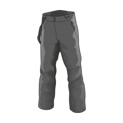 NO-3655SNW pánske nohavice lyžiarske softshell plná výbava EREJ 14