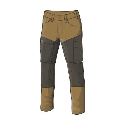 NO-3688AD pánske nohavice adventure 2v1 bavlnený štýl OSTYN 6