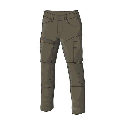 NO-3688AD pánske nohavice adventure 2v1 bavlnený štýl OSTYN 7