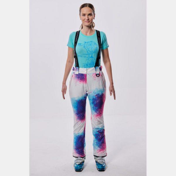 NO-4654SNW dámske nohavice lyžiarske zateplené design print HIMELDA 3