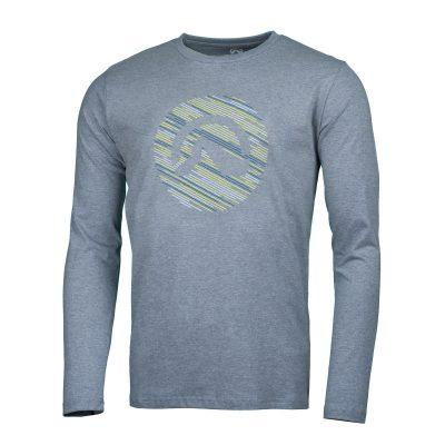 NORTHFINDER pánske tričko cotton logo stripes melange LINO 7