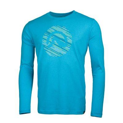 NORTHFINDER pánske tričko cotton logo stripes melange LINO 8