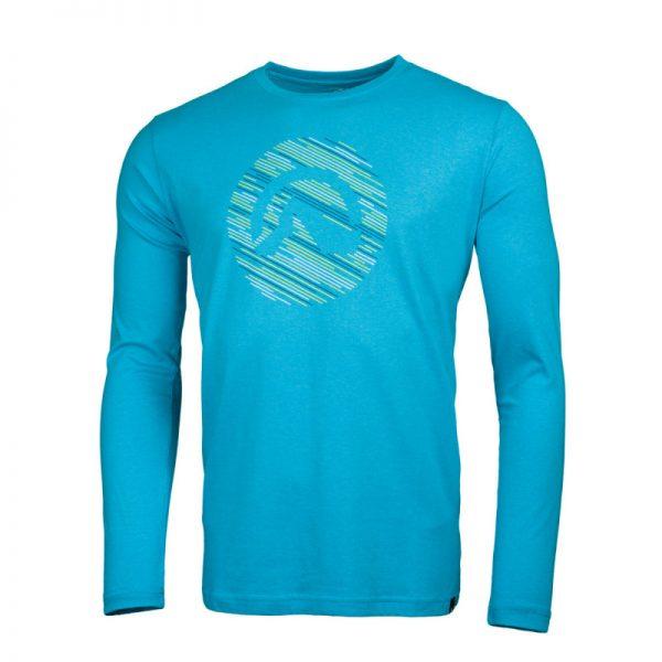 NORTHFINDER pánske tričko cotton logo stripes melange LINO 5
