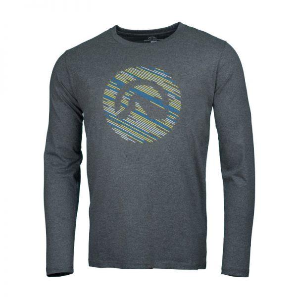 NORTHFINDER pánske tričko cotton logo stripes melange LINO 6