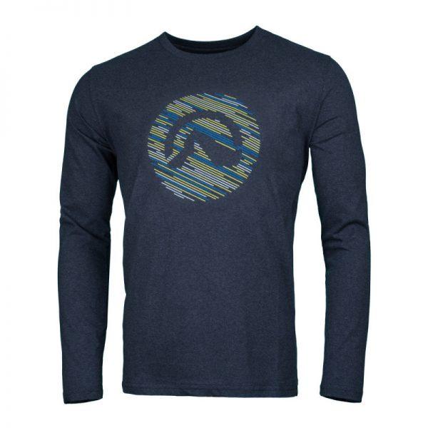 NORTHFINDER pánske tričko cotton logo stripes melange LINO 3